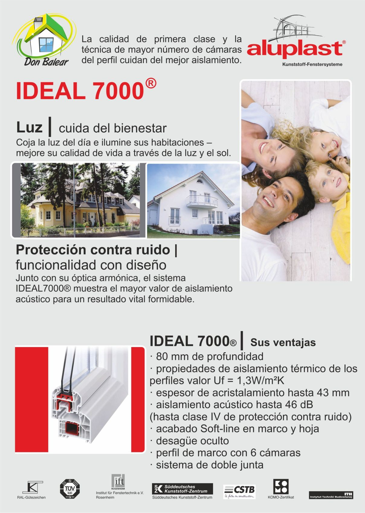 ventanas pvc mallorca ideal 7000