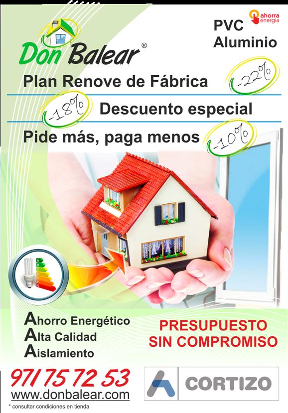 Donbalear especialistas en ventanas y puertas pvc en for Ventanas pvc mallorca